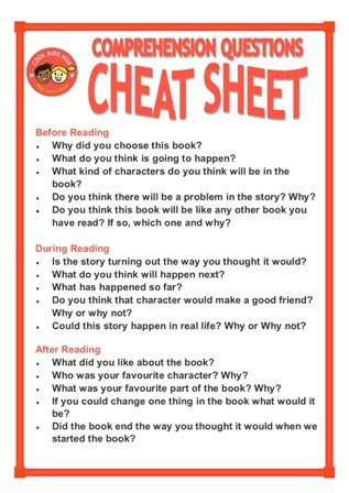 Comprehension Questions Cheat Sheet