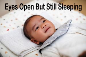 Baby Sleeping With Eyes Open