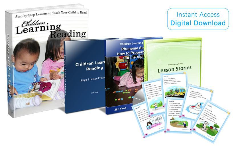 Children Learning Reading Advanced Phonic Program