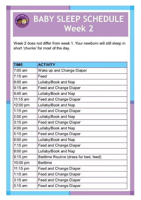 Sleep Schedule Week 2