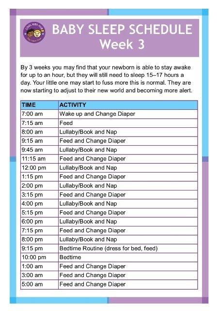 Sleep Schedule Week 3