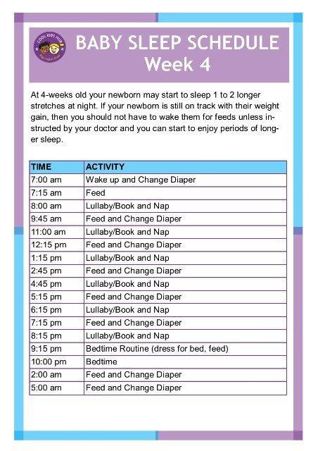 Sleep Schedule Week 4