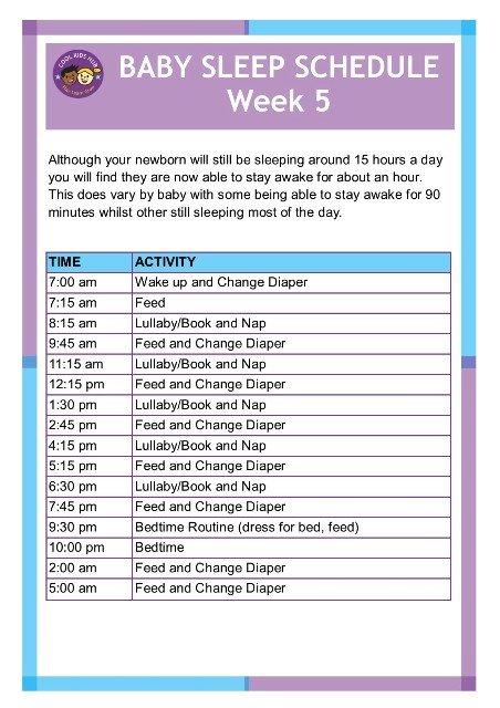 Sleep Schedule Week 5