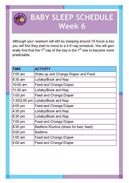 Sleep Schedule Week 6