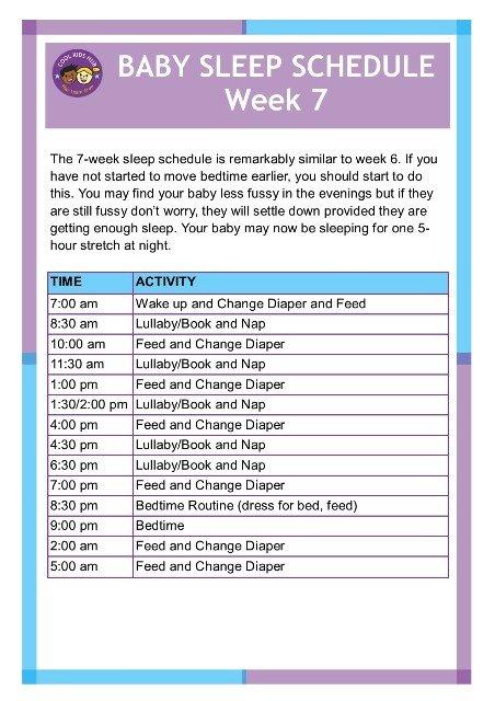 Sleep Schedule Week 7