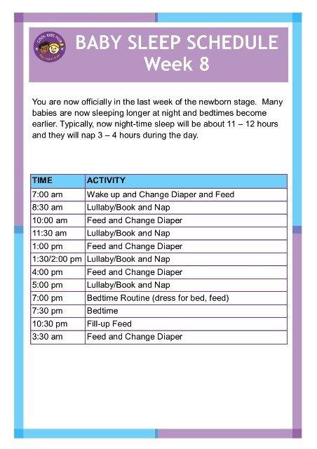 Sleep Schedule Week 8