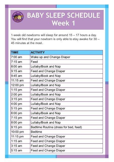 Sleep Schedule Week 1