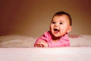 Baby Awake and Happy