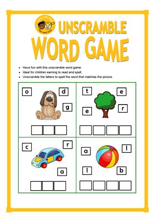 Unscramble Word Game