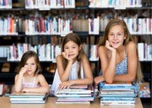 3 Girls Reading Books