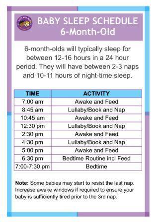 6-Month Sleep Schedule