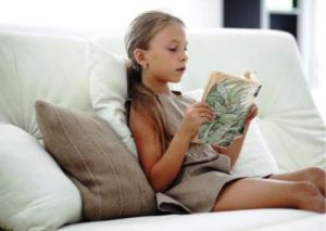 Girl Reading a Classic Book